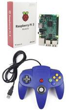 Para Raspberry Pi 3 Nintendo N64 Pad de Juego Controlador Usb también funciona con PC MAC