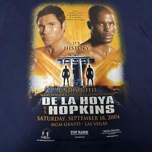 Oscar De la Hoya Vs Hopkins T Shirt L 2004 MGM Las Vegas Boxing History