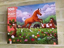 Hinkler Horsing Around Children's Fuzzy 100pc Puzzle (new)