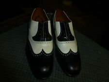 Vintage THE BRITISH ISLES COLLECTION / LOAKE Leather Wing Tip Shoes Mens Sz 8.5