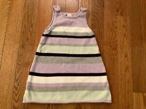 GYMBOREE GIRLS SZ 6 Girls Stripe Cotton Sweater Jumper Dress w/ Buttons