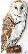 Barn Owl Bird of Prey Wall Clock Gift Boxed NEW