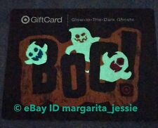 """TARGET GLOW IN THE DARK GIFT CARD """"BOO"""" HALLOWEEN GHOSTS NO VALUE NEW"""