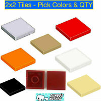 Lego 2x2 Tile Tiles Flat Smooth w/ Bottom Groove Pick Colors & QTY NEW X40 X100