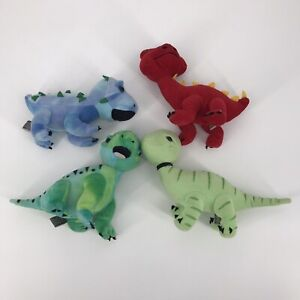 Lot of 4 Melissa & Doug Baby Dinosaurs in a Nest Plush Stuffed Animal Toys Used