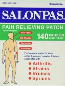 Hisamitsu Salonpas AE Pain Relieving Patches Expiry 6/2024