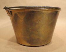 Antique Brass Bucket / Pail | Feb. 13, 1866 | Ansonia Brass Co. / H.W Haydens