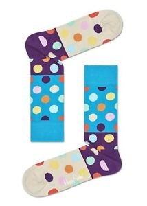 Happy socks Grande Pois Blocco Calzino - Luce Blu - Eu Taglie 36-40 E 41-46