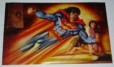 Original 1994 DC Action Comics Superman Lois Lane 34x22 comic book art poster 1