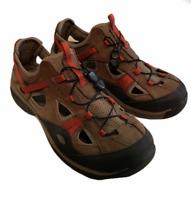 ExOfficio Men's Leather Water Hiking Sport Sandal Size 9.5 HM-1011 Brown Orange