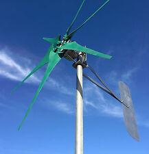 """WINGEN 1.5"""" wind turbine 6 blades GREEN 24 volt DC 2W  PMG / PMA  900 Watt NEW"""