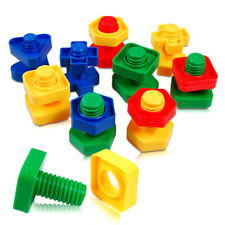 1 set Screw Building Blocks Insert Blocks Nut Shape Kids Educational Gift Toy DS