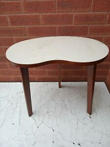 Vintage Mid-20C 1950s Kidney-Shaped Coffee Side Plant Table. Retro kitsch.