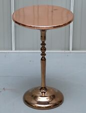 BRONZE PLATED VINTAGE SIDE TABLE MADE ON SOLID OAK BASE PART OF LARGE SUITE