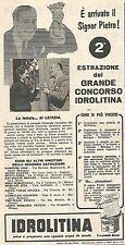 W8919 IDROLITINA - Letizia Chiriatti di Ancona - Pubblicità del 1958 - Advert