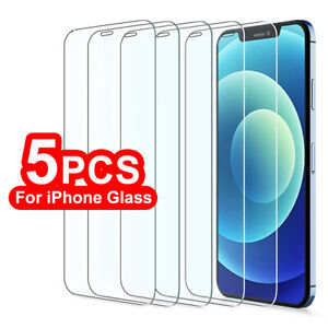 Tempered Glass Screen Protector For iPhone 12 Mini 11 Pro X XS Max XR Full Cover