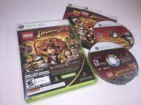 LEGO Indiana Jones and Kung Fu Panda Combo Microsoft Xbox 360 Game Complete CIB