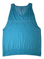 Nike Womens Dri-Fit Gym Yoga  Activewear Sleeveless Shirt Light Blue Sz.XL EUC