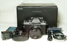 Fujifilm X-T100 APSC mirrorless digital camera, XC15-45 f/3.5-5.6 OIS PZ zoom