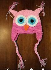 Baby Girl Toddler Crochet Owl Hat beanie cap 6-12 months