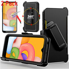For Samsung Galaxy A01 Case, Armor Hard Belt Clip+Screen Protector Fits Otterbox