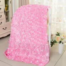 Rosette Satin Aisle Runner 140cm Wide 3D Fabric Wedding Decor Carpet Curtain