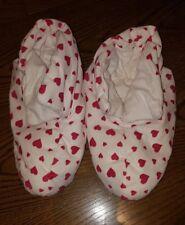 La Senza Duvet Booties / Slippers - Hearts - Soft Warm - Size 5/6/7