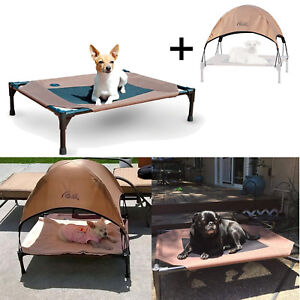 """Cool Pet Cot Elevated Bed with Removable Canopy Mesh Waterproof Dog Cat 25x32x7"""""""