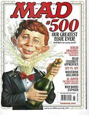 Mad magazine #500 June 2009 Very Fine cond Alfred E Neuman Sergio Aragones