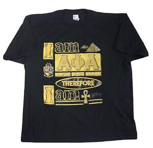 ALPHA PHI ALPHA Vintage 1990s Frat T Shirt - College University Fraternity - 2XL