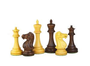 The Anderssen Series 3.75'' Schachfiguren Set Akazien Holz 4x Dame Hand Indien