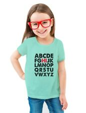 Hi In Alphabet Back To School Cute Toddler/Kids Girls' Fitted T-Shirt Gift