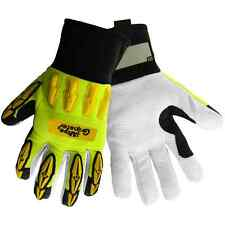 Mechanic Gloves, Vise Gripster Padded back ,TPR impact protection, Sz:Med SG9944