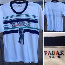 VIntage Padak Tees T-Shirt I'm Not A Tourist I Work Here Golf Theme ML 80s