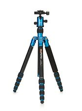 """*$50 Rebate"""" MeFOTO RoadTrip A1350Q1B Travel Tripod Kits - Blue -17.6lbs M. Load"""