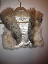 100% Real Fox And Racoon Fur Vest