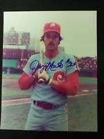 Jerry Martin Signed Vintage Phillies 8x10 Photo JSA 15B