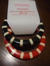 NWT Gymboree PREP SCHOOL Bangle Bracelets red black