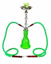 "Zebra Smoke Series A1 21/"" 2 Hose Medium Jewel Hookah Complete Set Green Nargi"