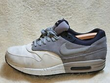Nike Air Max 1 Premium mens trainers Leather White/Grey UK 10 EUR 45