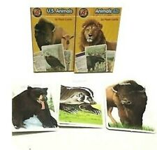 2 Flash Card Boxes: Us Animals & Animals of the World (72 flash cards in total)