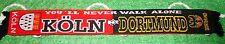 """Dortmund Köln Schal """"Freundschaftsschal"""" 4 Kurve Block DO Kurve Fan 100% Acryl"""