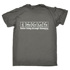 Chocolate Better Living Through Chemistry T-SHIRT Periodic Table fathers day