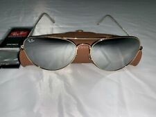 Ray-Ban Aviator Sunglasses RB3026 62mm 001/30 Gold Frame with Silver Mirror Lens
