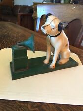 Cast Iron Victrola Nipper Dog Bank Nice!