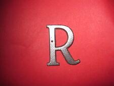 Cast Aluminum Metal Letter R 1 1/4 Roman Font