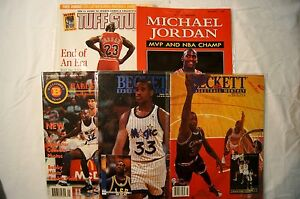 MINT Lot of 5 NBA Magazines MICHAEL JORDAN 1991 and SHAQUILLE O'NEAL 1993 Rookie