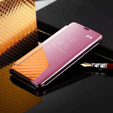 For Samsung Galaxy S9 & S9 Plus Clear View Mirror Leather Flip Stand Case Cover