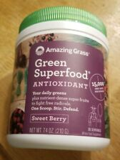 Green Superfood Antioxidant by Amazing Grass 30 Servings Sweet Berry NEW 6/20