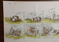 """Disney Studios Original Comic Strip Drawing of """"SCAMP"""" 6/18/78 by Bill Berg"""